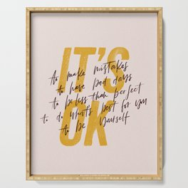 Its OK quotes Serving Tray