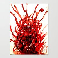 carnage Canvas Prints featuring Carnage watercolor by Noel Castillo