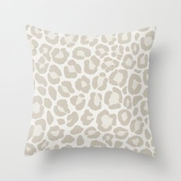 Cream Leopard Throw Pillow