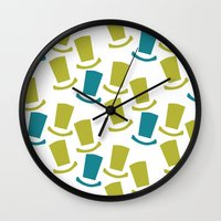 willy wonka Wall Clocks featuring Wonka by Pink Koala Design Studio