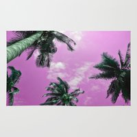 palm trees Area & Throw Rugs featuring Palm trees by Nicklas Gustafsson