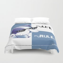MY LIFE, MY RULES Duvet Cover