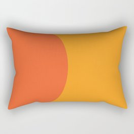 Orange Rising Rectangular Pillow
