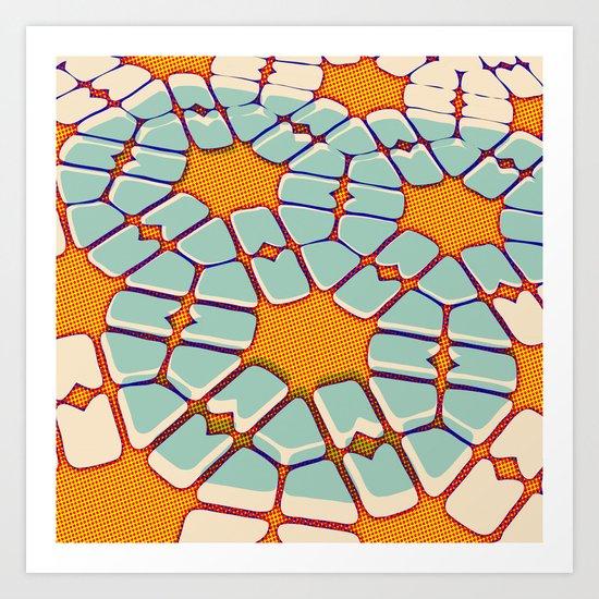 Retro texture Art Print