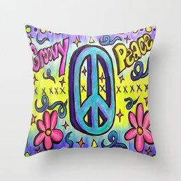 Groovy Peace Throw Pillow