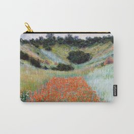 Poppy Field in a Hollow near Giverny by Claude Monet Carry-All Pouch