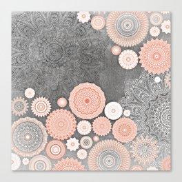 FESTIVAL FLOW BLUSH SUNSHINE Canvas Print