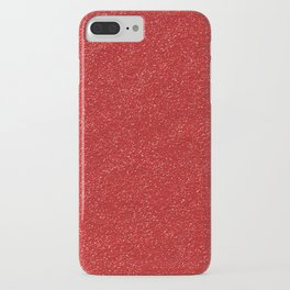 Shiny Glitter, Sparkling Glitter Glow - Red iPhone Case