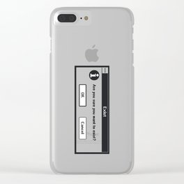 Basic Existentialism I Clear iPhone Case