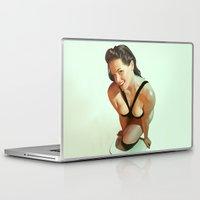 pin up Laptop & iPad Skins featuring Pin-Up by Pinturero