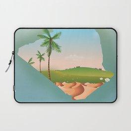 Algiers Algeria travel poster Map. Laptop Sleeve