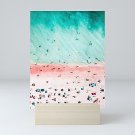 Ocean Print, Pink Beach Print, Bondi Beach, Art Print, Ocean Poster Print, Beach Print, Wall Decor Mini Art Print