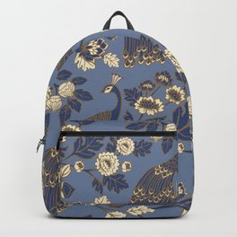 Peacock Garden {Eastern Blue} Backpack
