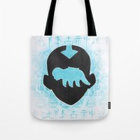 avatar the last airbender Tote Bags featuring The Last Airbender by Carmen McCormick