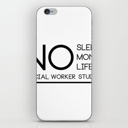 Social Worker Student Gifts For Graduation Social Worker iPhone Skin
