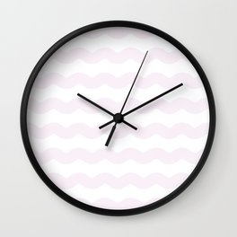 Winter 2018 Color: Pink Cream in Waves Wall Clock