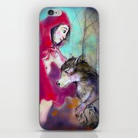 red hood iPhone & iPod Skins featuring red hood by AliluLera