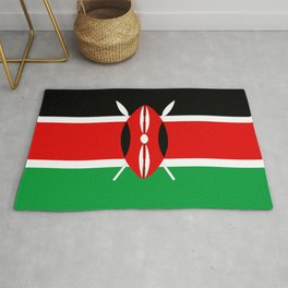Kenya country flag Rug