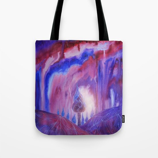 Lines in the mountains VII Tote Bag