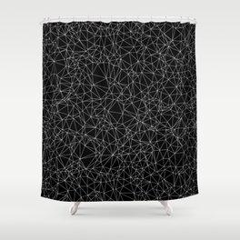 DELAUNAY TRIANGULATION b/w Shower Curtain
