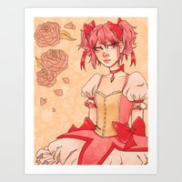 madoka Art Prints featuring Madoka by auroraghost