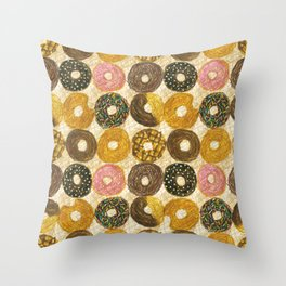 Donuts pattern Throw Pillow