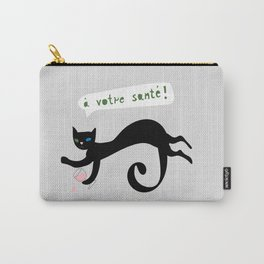 party animals - french cat Carry-All Pouch