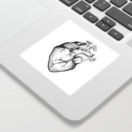 Heart Black and White Sticker