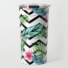 Watercolor Floral Pattern Travel Mug