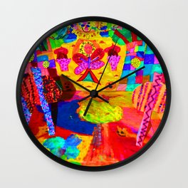 Colorful Feast | Kids Painting Wall Clock