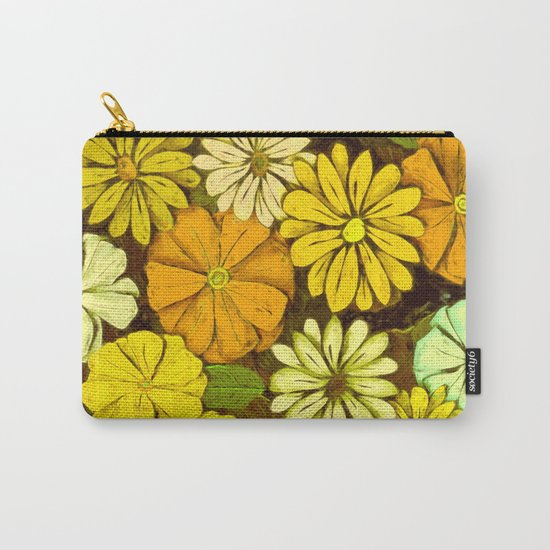 Abstract #417 Flower Power #5 Mellow Yellow Carry-All Pouch