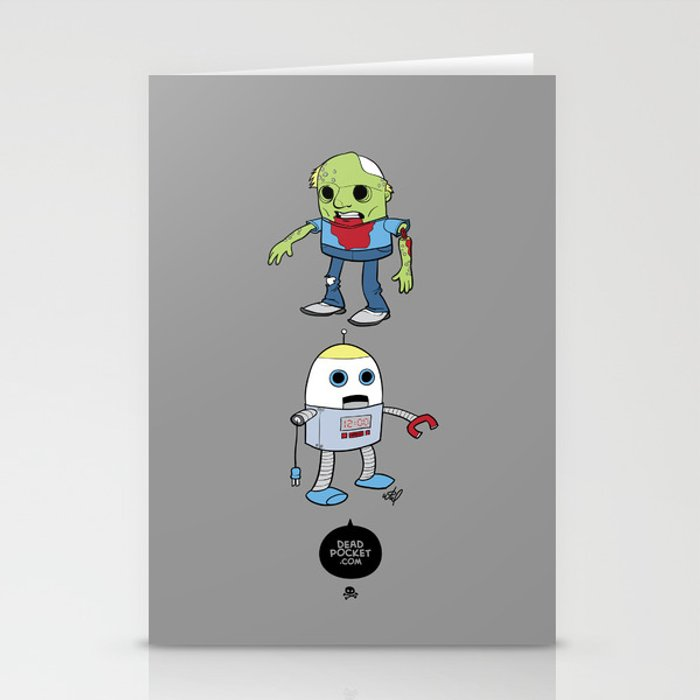 Zombie+Bot Stationery Cards
