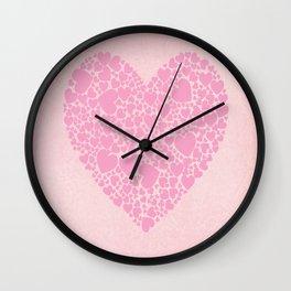 Rose Hearts Wall Clock