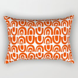 Miles of Tiles Orange/White Rectangular Pillow