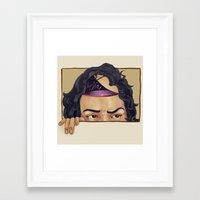 bianca green Framed Art Prints featuring Bianca by Noelle Tibke