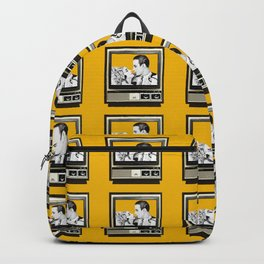HOMEMADE YELLOW CLASSIC TV PATTERN Backpack
