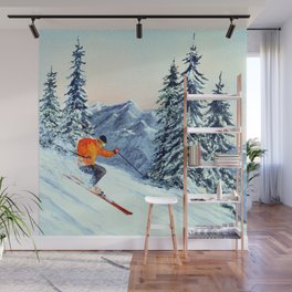 Skiing The Clear Leader Wall Mural