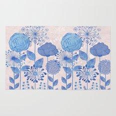Light Blue Flowers Rug
