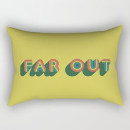 Far Out Rectangular Pillow
