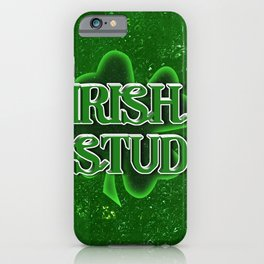 Irish Stud - St Patrick's Day Clover iPhone Case