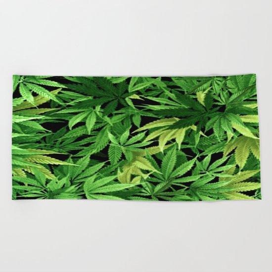 Cannabis Beach Towel