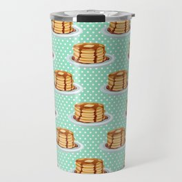 Pancakes & Dots Pattern Travel Mug
