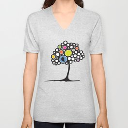 Bird on a tree Unisex V-Neck