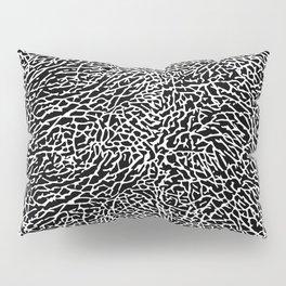 Elephant Print Texture - Black and White Pillow Sham