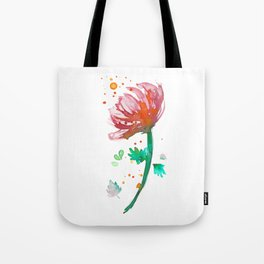 Warm Watercolour Fiordland Flower Tote Bag