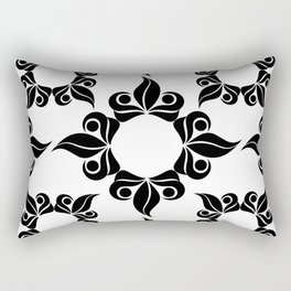Decorative Black and White Pattern Rectangular Pillow