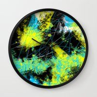 splash Wall Clocks featuring Splash by Timothy Davis