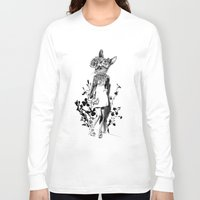 moose Long Sleeve T-shirts featuring MOOSE by TOO MANY GRAPHIX