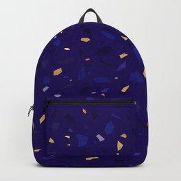 Blue Terrazzo Pattern Backpack
