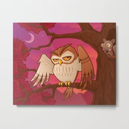 Mister Owley Metal Print